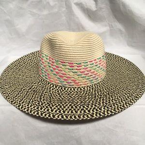 August Hats 90s Large-Brim Hat Natural Black